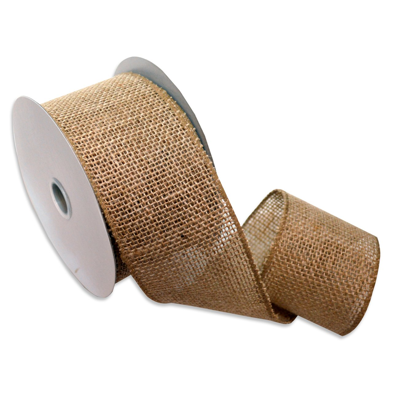Morex Ribbon Burlap Wired Ribbon 2 1 2 Inch By 10 Yard