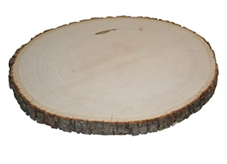 Basswood Round (Rustic Wood Slice Wood Plate Charger for Wedding Table Decor) (  sc 1 st  Amazon.com & Amazon.com: Basswood Round (Rustic Wood Slice Wood Plate Charger ...