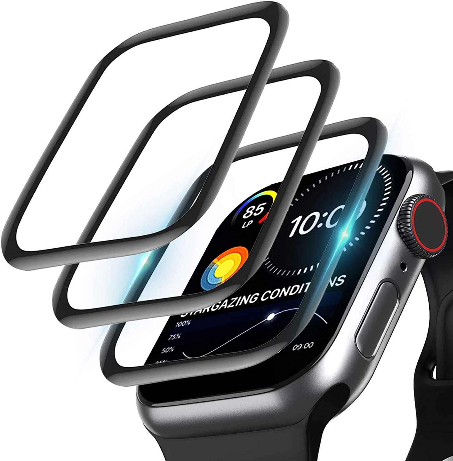 [3 Pack] Screen Protector Compatible with Apple Watch Series 6/5/4/SE 44MM, Full Coverage Bubble-Free Anti-Scratch Shatterproof HD Ultra Clear Flexible Film Screen Protector for iWatch 6/5/4/SE (44MM)