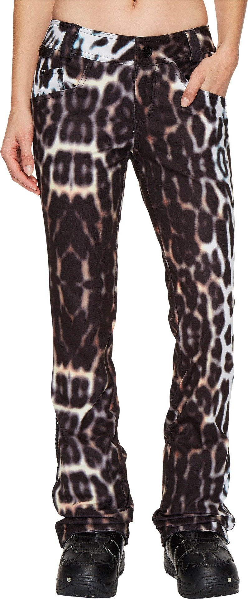 Volcom Snow Women's Battle Stretch Pants Cheetah X-Large by Volcom