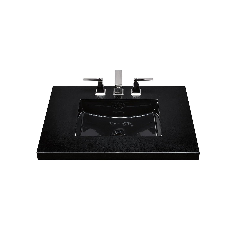 hot sale 2017 RONBOW Essence 20 Inch Undermount Ceramic Vessel Bathroom Vanity Sink in Black 200521-BL