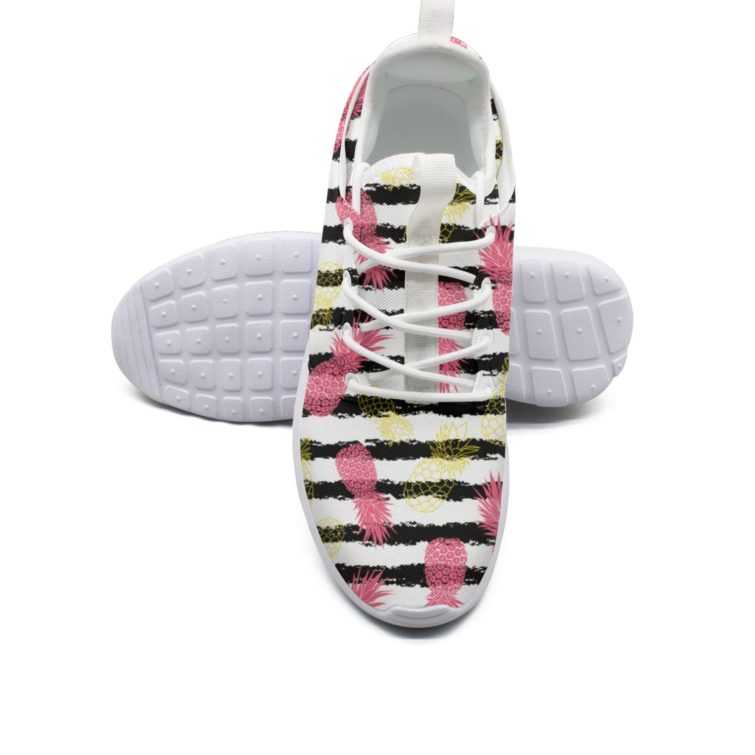 separation shoes 7a292 214fe ERSER Vintage Grunge Pink and Yellow Pineapples Run Shoes Women Women Women  B07D9KHJ1T Fashion Sneakers 9a0dad