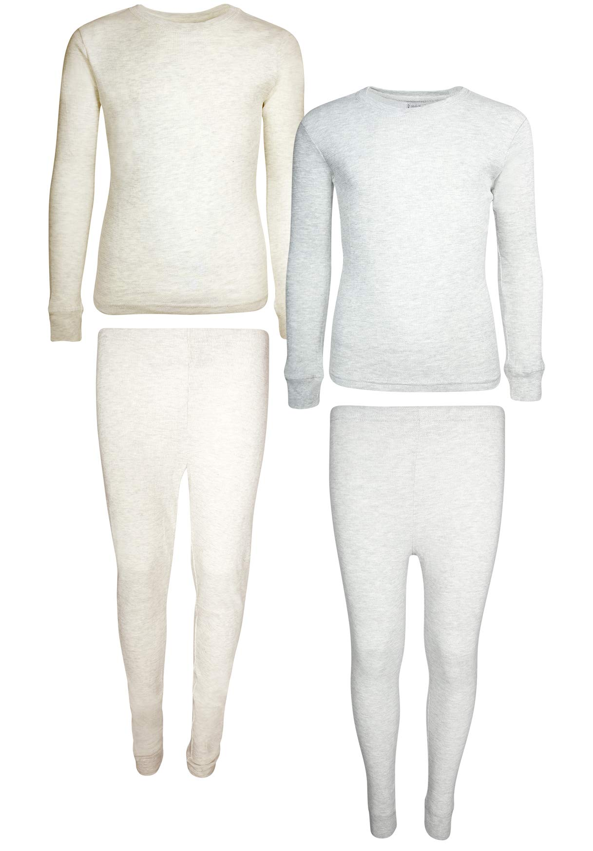 Only Boys 2-Pack Thermal Warm Underwear Top and Pant Set (2 Full Sets) (2T, Oatmeal/Heather Grey)' by Only Boys