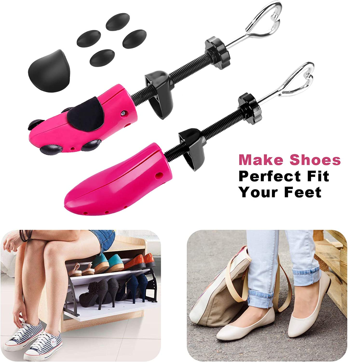KevenAnna Shoe Stretcher with Shoe Horn Boot Shaper Stands and Carrying Bag Womens Shoes