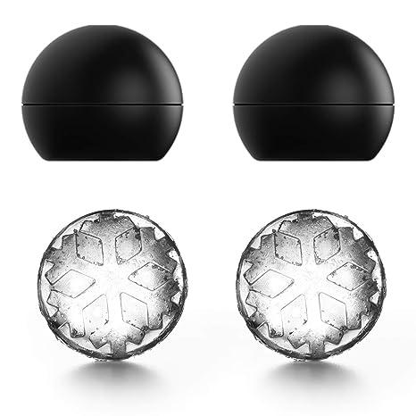 Amazon.com: Juego de 2 moldes de silicona para cubitos de ...