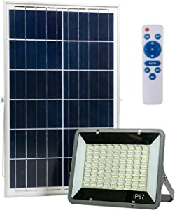 AIJADY Solar Flood Lights 200W Dusk to Dawn Spot Lights with 243 LEDs IP67 16.6ft Cable Outdoor/Indoor Solar Security Lights with Remote for Barn,Garden,Pool,Garage