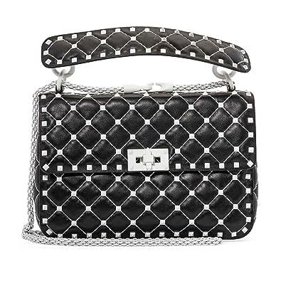 8b5618b06 Valentino Free Rockstud Spike Medium Shoulder Bag- Black: Handbags:  Amazon.com
