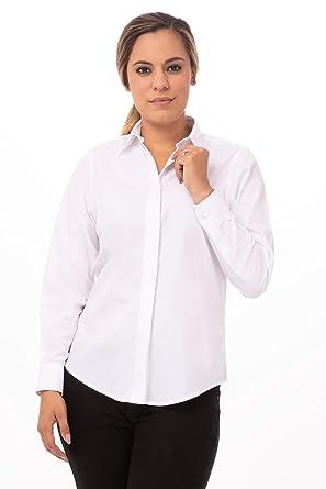 Chef Works Camisa Básica De Vestir Para Mujer Blanco Xl