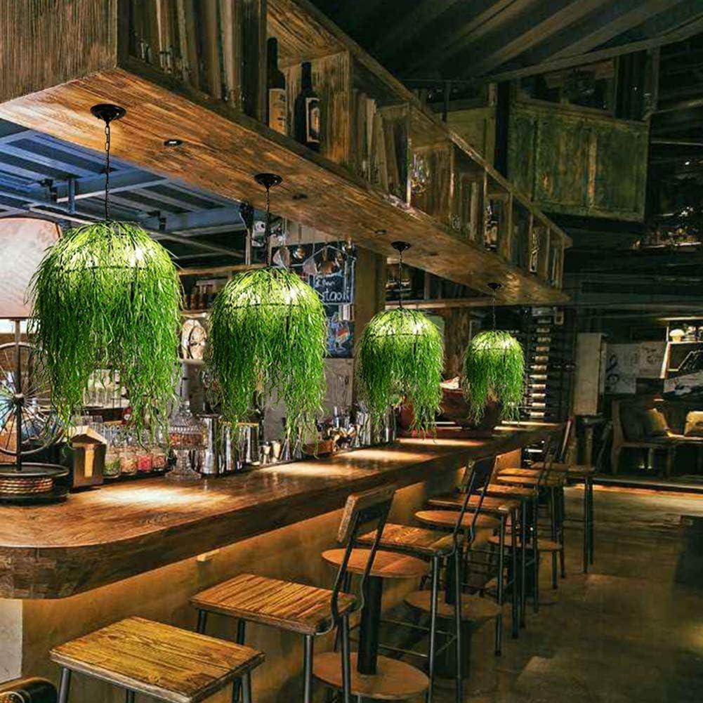 Z-ZH Lámpara de Planta de Viento Industrial - Music Restaurant Tea Shop Plant Chandelier Bar Counter Card Holder Retro Simulación Creativa Flor Luz Luces Colgantes, 55cm * 55cm: Amazon.es: Hogar
