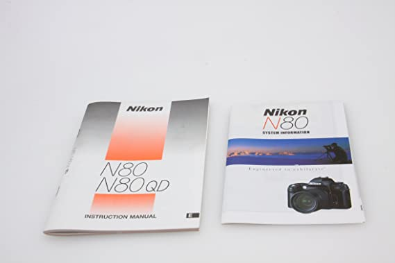 Nikon n80 n80qd | autofocus | exposure (photography).