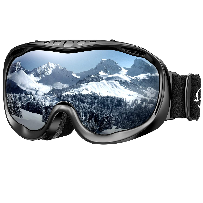 enkeeo maschera da sci  ENKEEO Maschera da Sci, Occhiali da Snowboard Full Frame, Anti ...