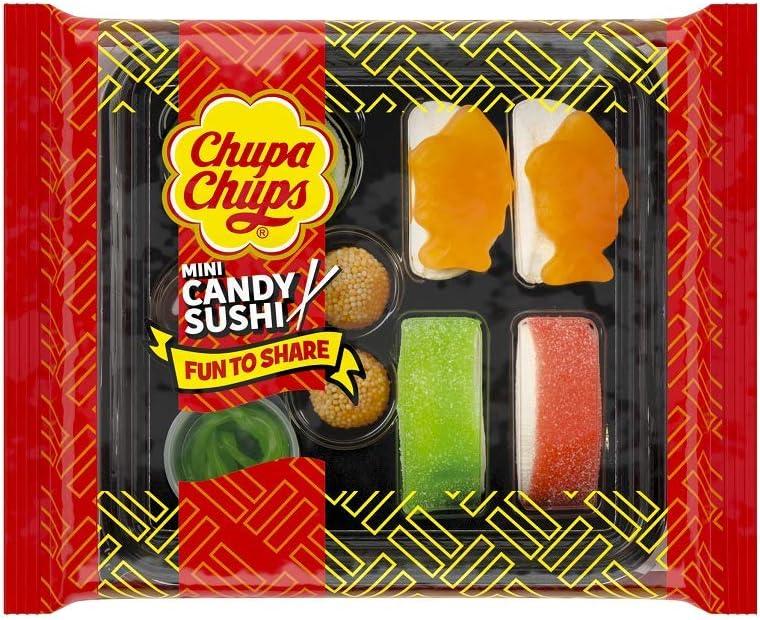 Chupa Chups Meals, Golosinas de Formas y Sabores Variados, Candy Sushi de 100 gr.
