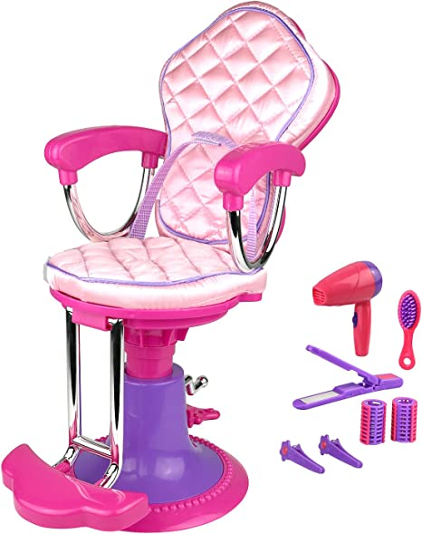 American Girl Doll Blue Salon Spa Chair~Salon Accessories+Foot Bath /& Sounds