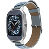"""Asus ZenWatch 2 Smartwatch(1.45"""" Stainless Steel - Silver/Swarovski Leather Band)(Certified Refurbished)"""