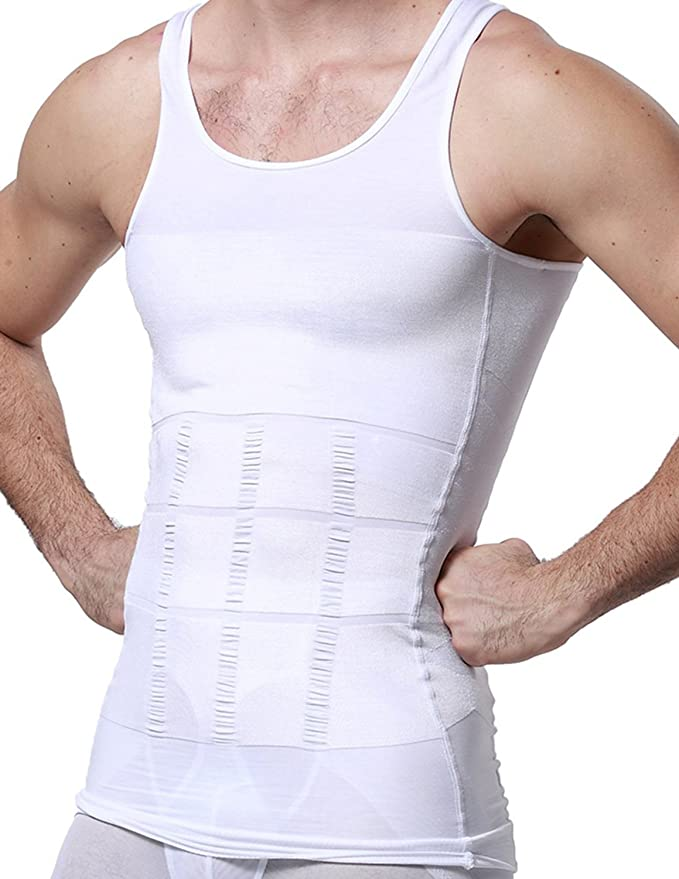 YCUEUST Chalecos de Compresión para Hombre Gimnasio Camisetas de deportes lHuNjGg