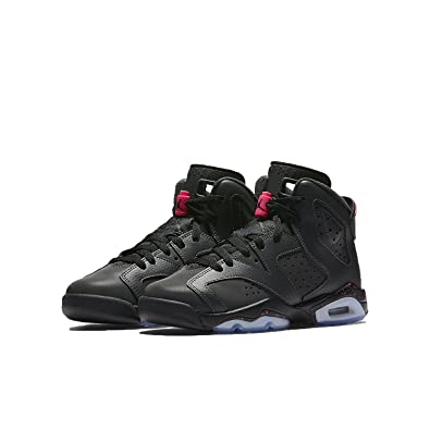new style d1cd8 db5c4 Jordan Retro 6 Kid's Anthracite Black Hyper Pink Shoes -1 US ...