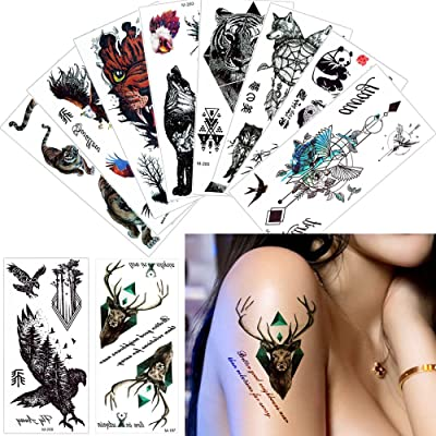 10 Sheets Cool Classic Totem Temporary Tattoo Sticker 9 x 19cm