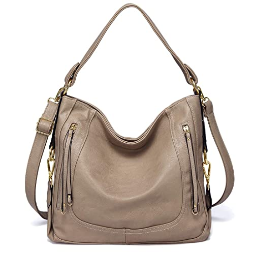 56a8c27f98 Kasqo Women Handbag Hobo Bag Pu Leather Shoulder Bag Crossbody Bag Purse  with Detachable Shoulder Strap