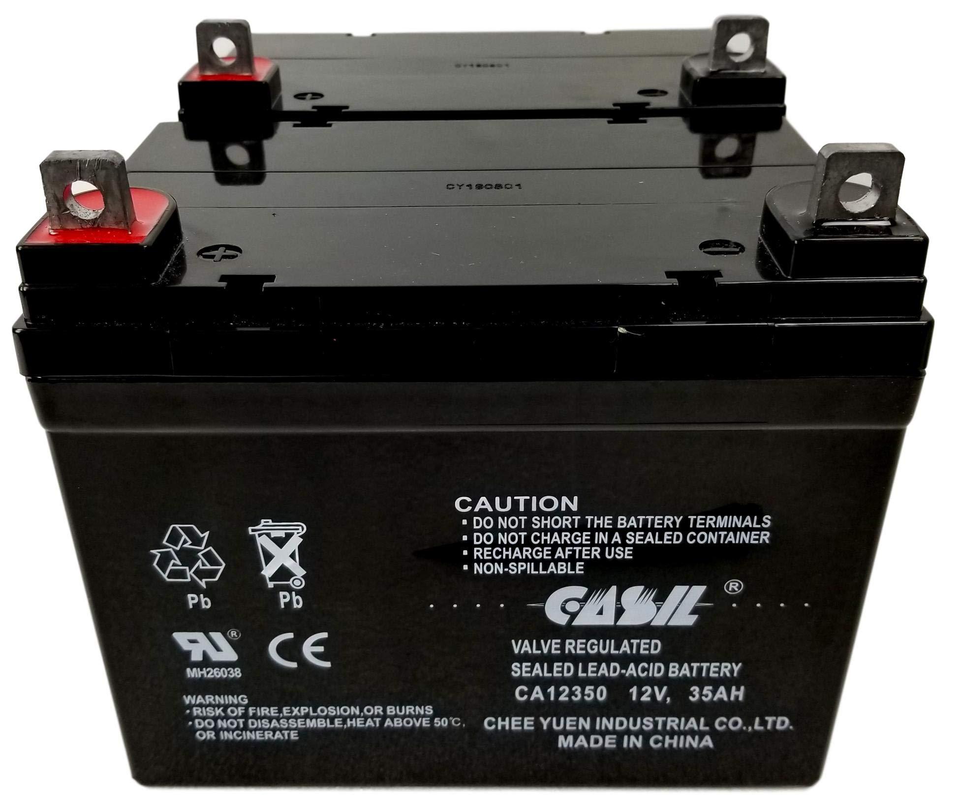 2 Pack Casil 12v 35ah for Rascal 445PC, 600C, 600F, 600T Battery by Casil