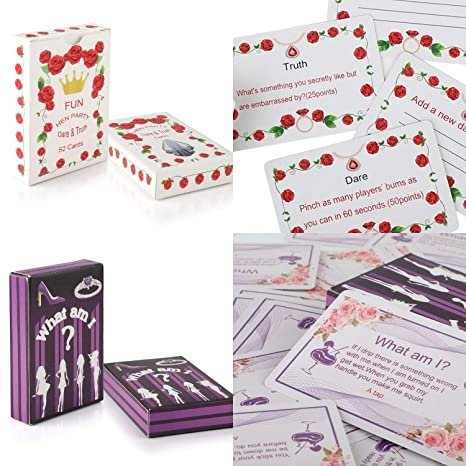 Hen Night Party Girls Night Out Games - WHAT AM I ? Dare&Truth Cards