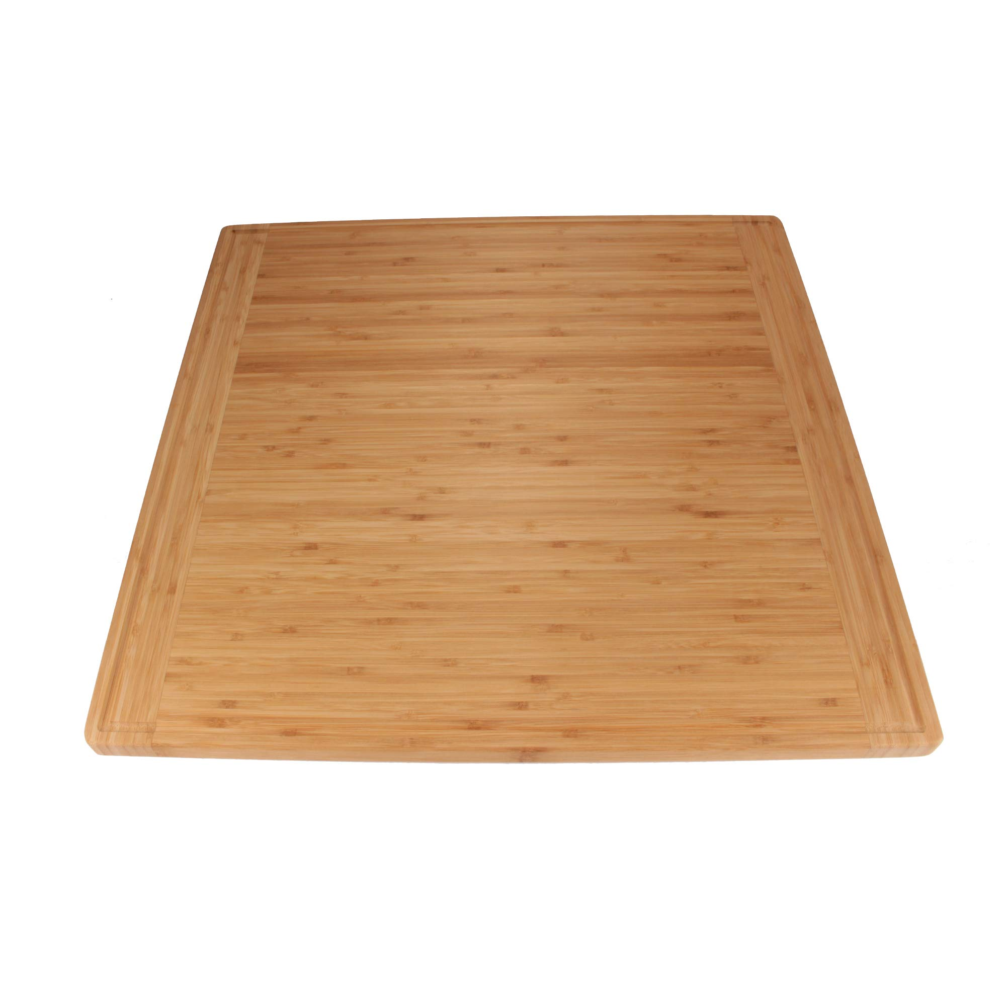 BambooMN Universal Premium Pull Out Cutting Boards - Under Counter Replacement - Designed To Fit Standard Slots Heavy Duty Kitchen Board with Juice Groove - 22'' x 22'' x 0.75'' - 1 Piece