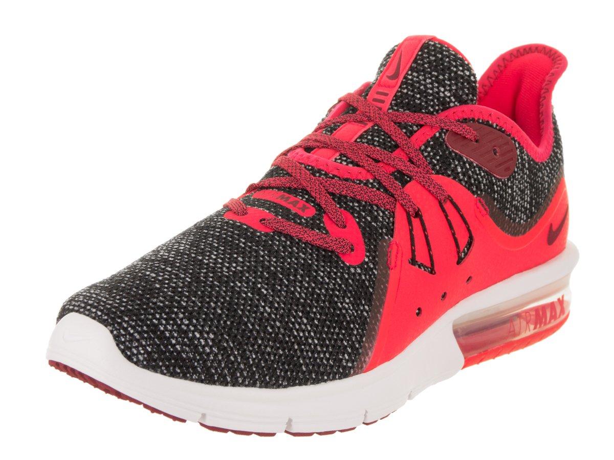 NIKE Women's Air Max Sequent 3 BlackRed CrushWhite Running Shoe 6.5 Women US