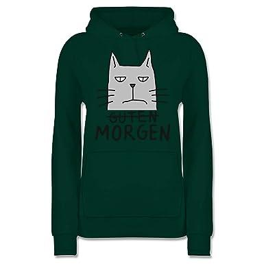 Shirtracer Katzen Guten Morgen Katze Damen Hoodie