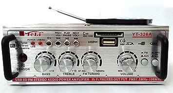 Teli, YT-326A - Mini amplificador para casa y coche 12–