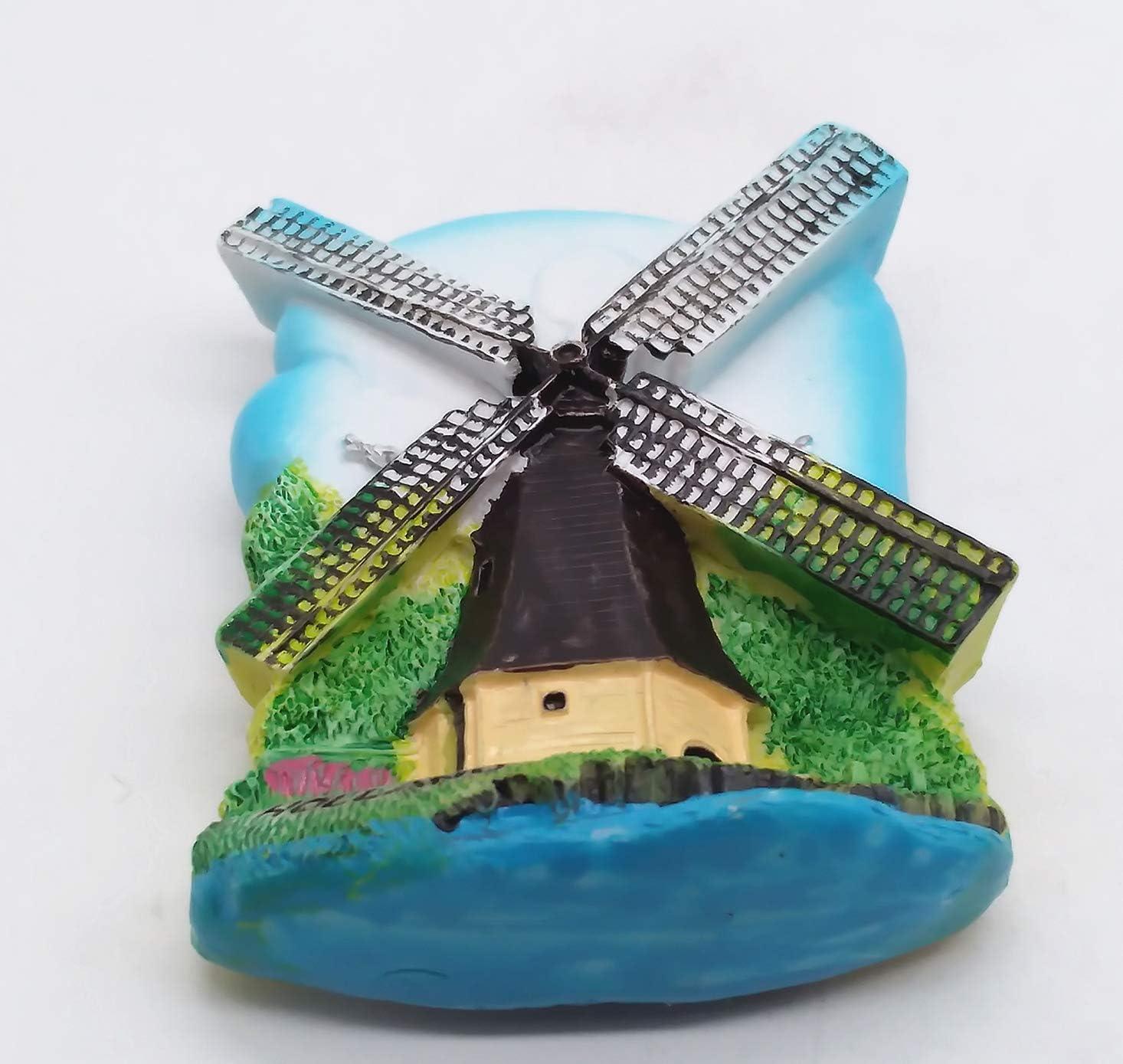 MUYU Magnet Holland Holland Pays-Bas Aimant de r/éfrig/érateur 3D Souvenir de la Maison et de la Cuisine Autocollant aimant/é