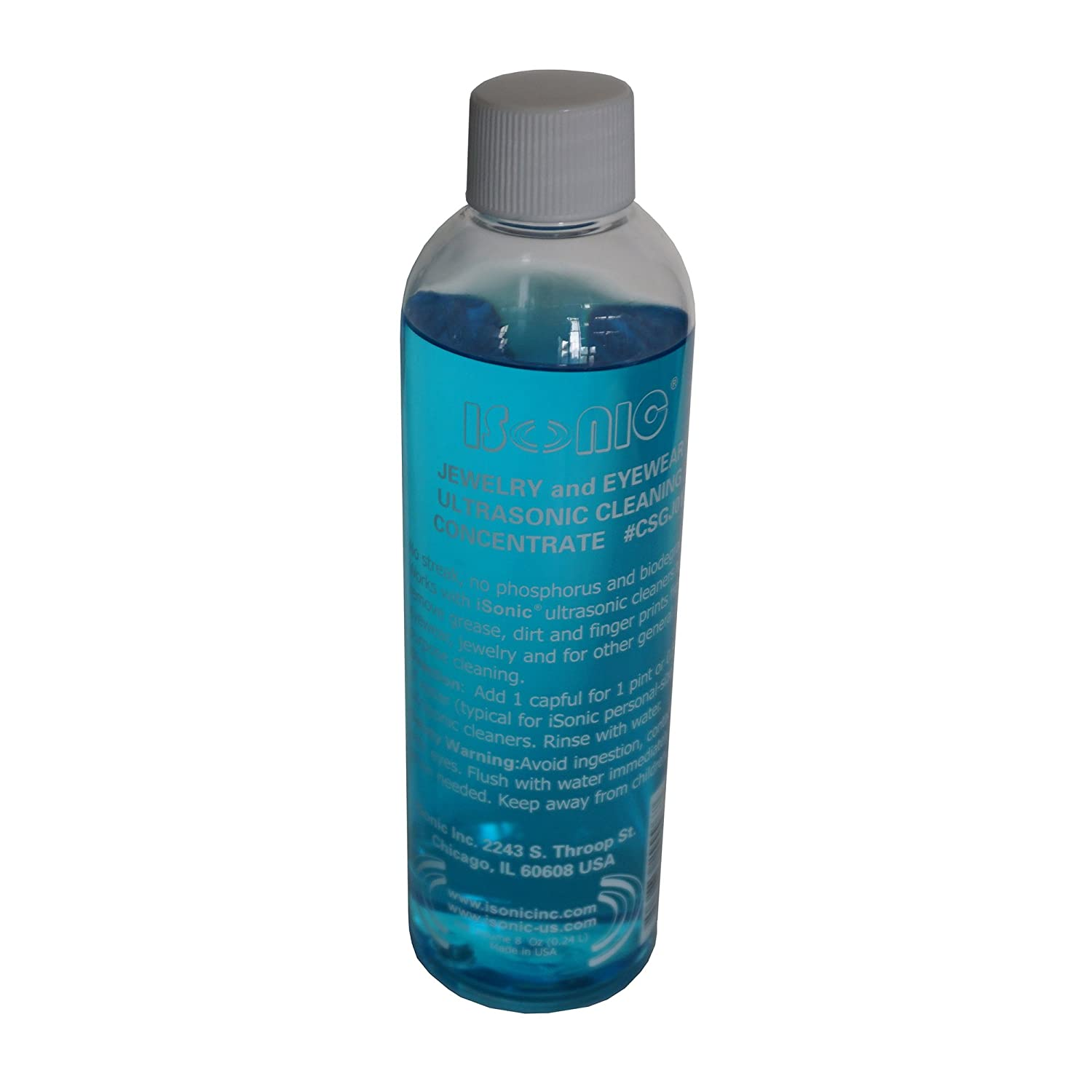 Image result for ISonic CSGJ01-8OZx1 Ultrasonic Jewelry/Eye Wear Cleaning Solution Concentrate: