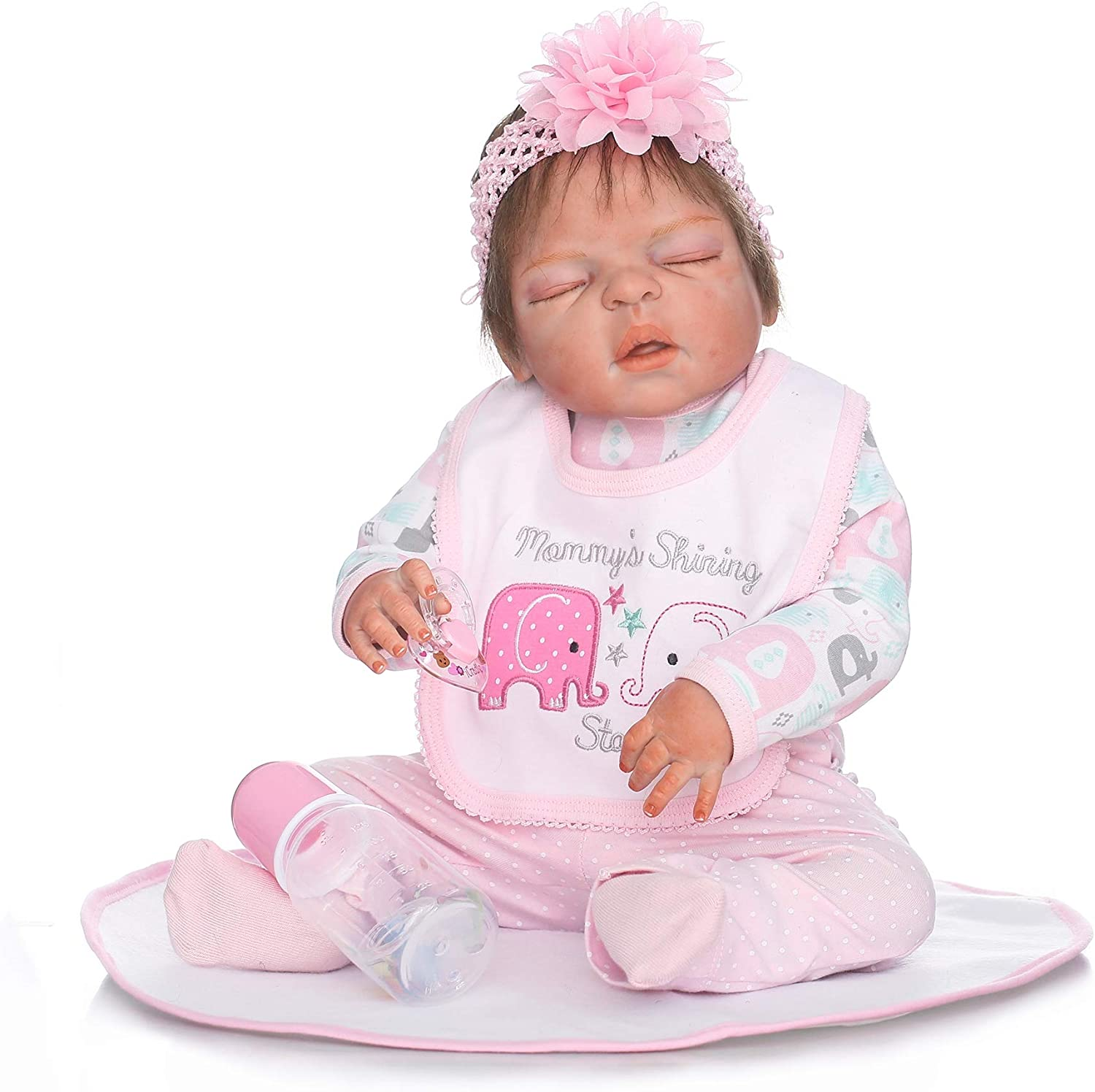 """For 22/"""" Reborn Baby Girl Doll Dress Romper Newborn Clothes Toy 0-3M Kids Gifts"""