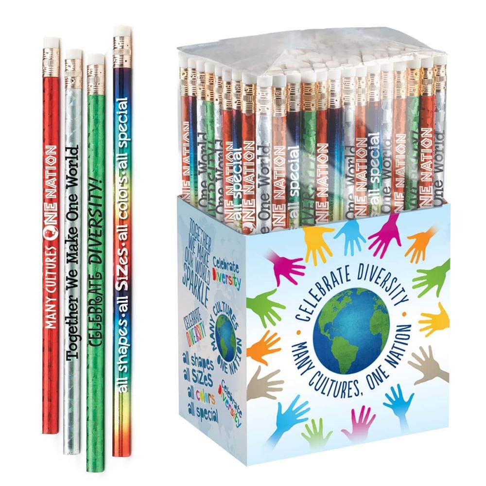 Positive Promotions Diversity 鉛筆コレクション 鉛筆150本入り   B07ML9ZFPK