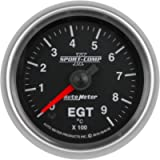 AutoMeter 3648-M Sport-Comp II Electric Oil Temperature Gauge 2-1/16 in. Black Dial Face - 3644-M