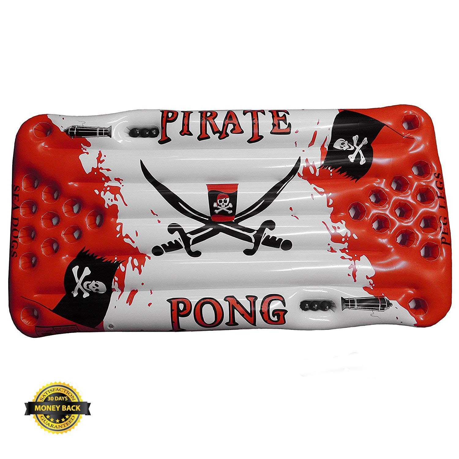 Beer Pong Raft - Inflatable Tabletop Pirate Pong