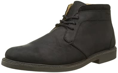 Sebago Turner WP, Bottes Chukka Homme, Noir (Black Leather WP), 44 EU