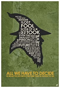 "Gandalf, All WE Have to Decide Word Art Print Poster (12"" x 18"") by Artist Stephen Poon."