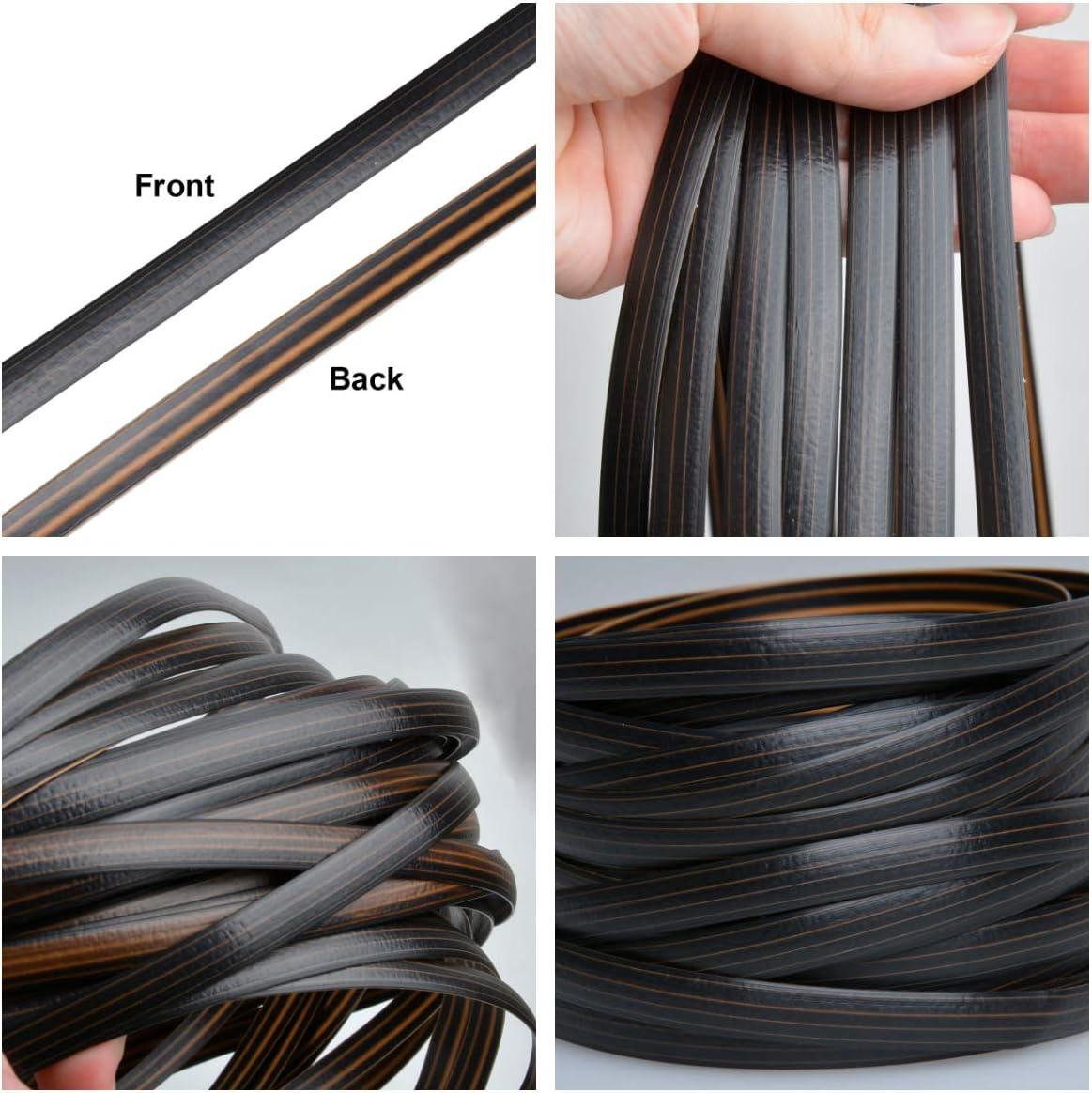 Black /& Coffe Flat Synthetic Rattan Queenbox 0.3 in x 32.8 ft 8mm Plastic PE Rattan Repair Materials for Knit DIY Art Craft Furniture Sofa Table Storage Basket 10m