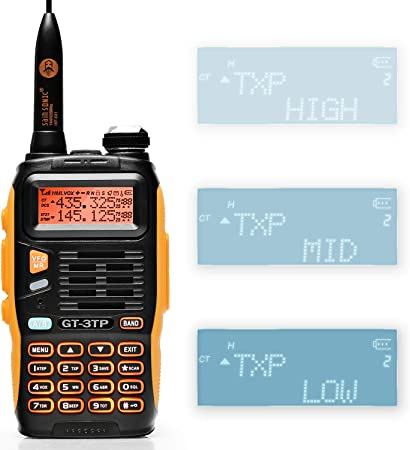 Baofeng GT-3TP Mark-III 8W 4W 1W UHF VHF Dual Band Two Way Radio Handheld Transceiver