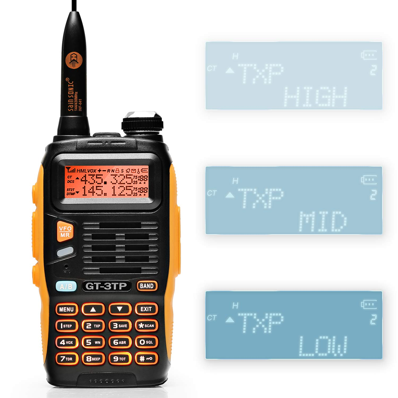 Baofeng GT-3TP Mark-III 8W 4W 1W UHF VHF Dual Band Two Way Radio Handheld Transceiver