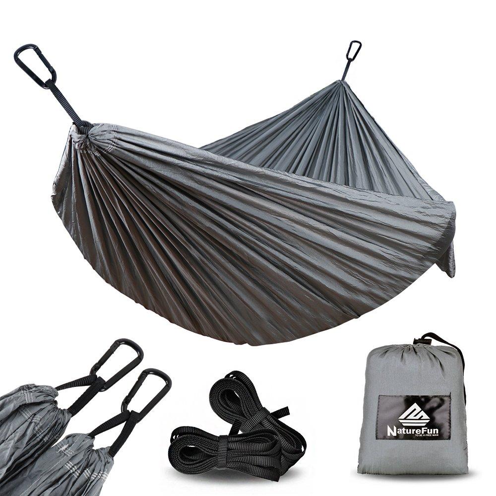 NatureFun Hamaca ultraligera para camping| 300kg de capacidad de carga, (275 x 140