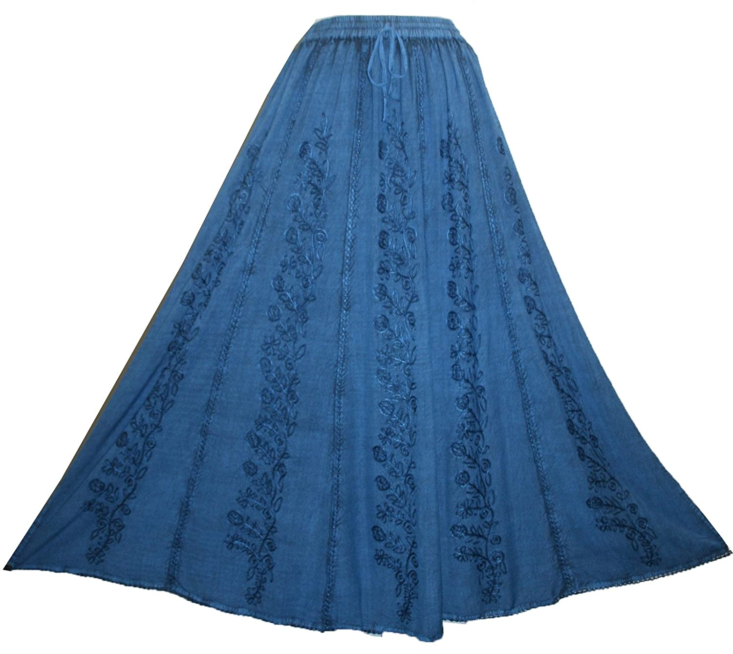 712 SK Agan Traders Medieval Embroidered Long Skirt