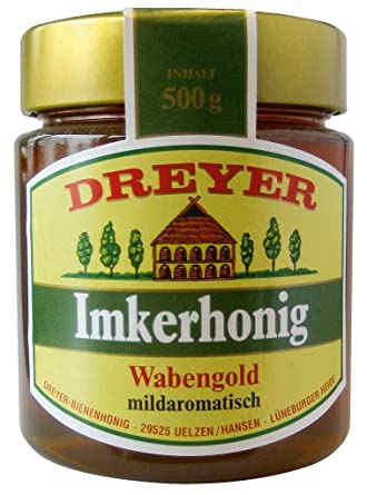 Dreyer - Imkerhonig mit Wabengold - 500g: Amazon.de: Lebensmittel ...