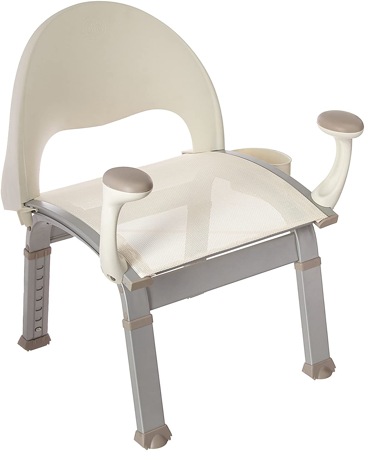 Moen DN7100 Home Care Premium Adjustable Bath Safety Shower Chair with Back and Arm Rests, Glacier 71wzNhxx79LSL1500_
