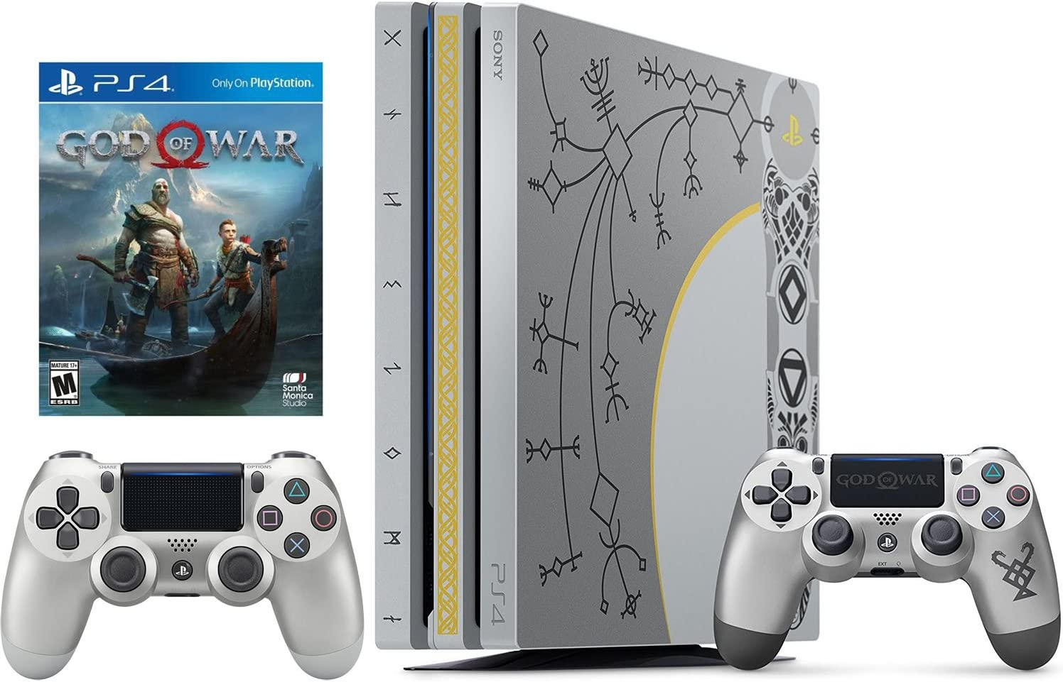 Amazon.com: Playstation 4 Pro 1 TB edición limitada God Of ...
