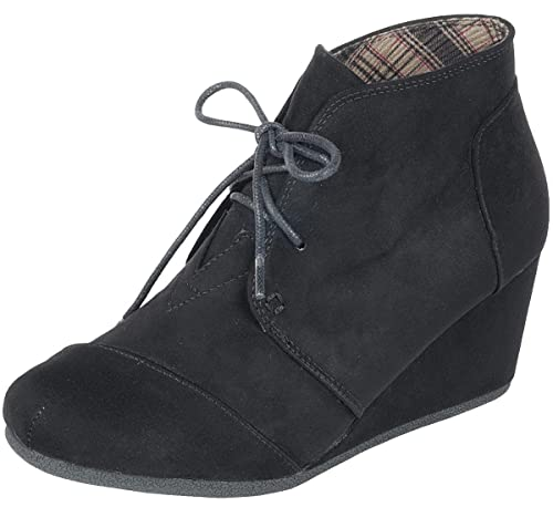 720a6b2da1e9 Forever Link Women s Lace Up Hidden Wedge Ankle Bootie (5 B(M) US