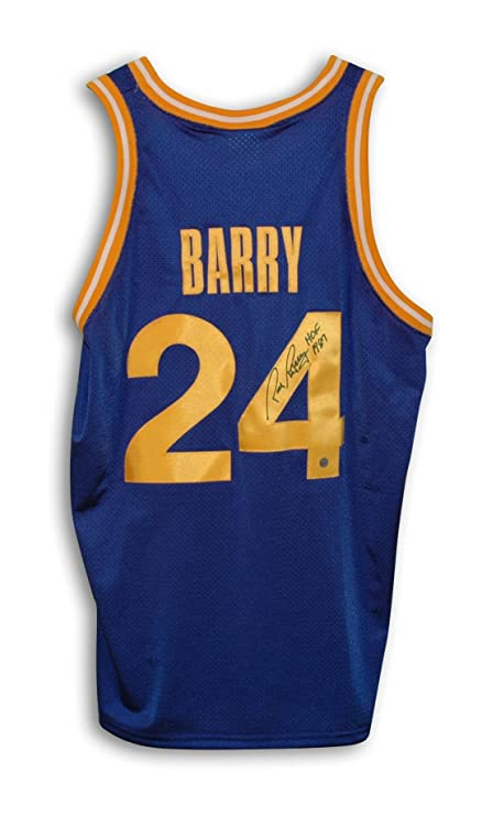 d0b737482 Rick Barry Golden State Warriors Autographed Blue Throwback Jersey  Inscribed quot ...