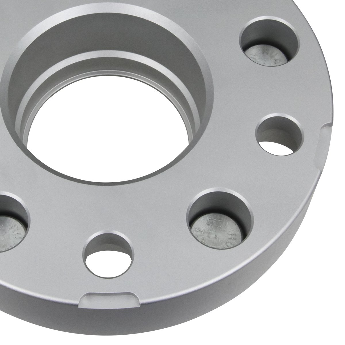 Supreme Suspensions - (4pc) 1997-2006 Jeep Wrangler TJ 2'' Hub Centric Wheel Spacers 5x4.5'' (5x114.3mm) with Lip + 1/2''x20 Studs [Silver] by Supreme Suspensions (Image #4)