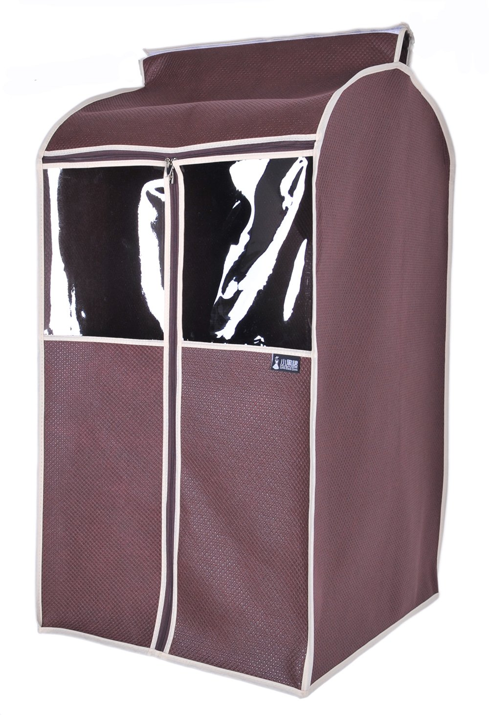 Sturdy Breathable Garment Covers Roomy Suit Storage Bag (L, Coffee)