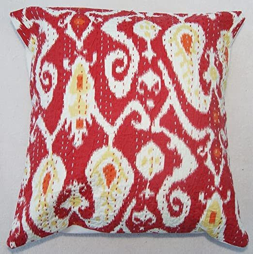 Amazon.com: Indian Ikat almohada reversible Indian Home ...