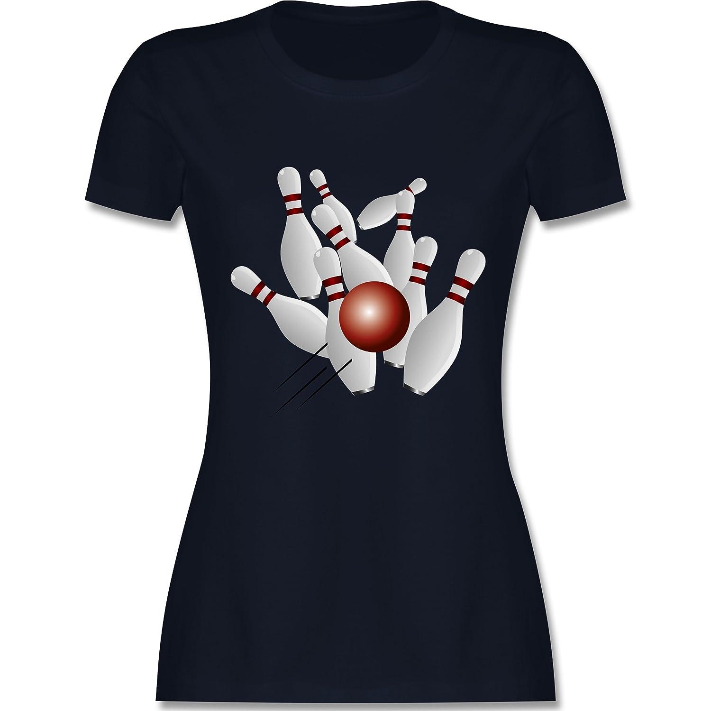 Bowling & Kegeln - Kegeln Alle 9 Kegeln Kugel - Damen T-Shirt Rundhals:  Shirtracer: Amazon.de: Bekleidung